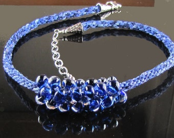 Kumihimo Shades of Blue Necklace