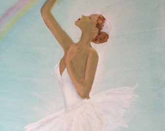 16x20 Ballerina Dancer Art/Painting