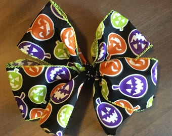 Large Glow in the Dark Halloween Bow!