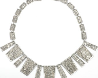 Silver 900 Necklace, 69.50 Grams 17 inches