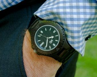 Boyfriend gift, Wood Watch, dad watch, personalized mens watch, engraved watch, Mens watch, custom watch, personalized husband gift ,DR218