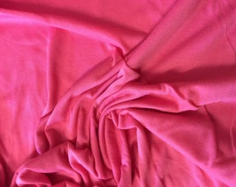 Coral cotton jersey fabric