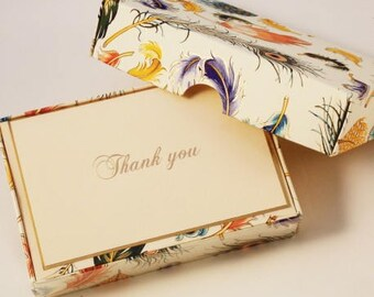 Feather Thank You Cards Italian Letterpress