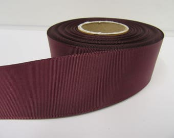 Grosgrain Ribbon 3mm 6mm 10mm 16mm 22mm 38mm 50mm Rolls, Burgundy Wine, 2, 10, 20 or 50 metres, Ribbed Double sided,