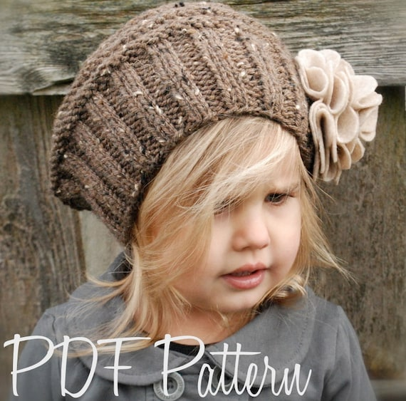 Beret Style Knit Hat Pattern Adults