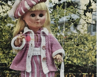 "Junior Miss Doll 4ply 14"" and 17"" Dolls Bestway 4006 Vintage Knitting Pattern PDF instant download"
