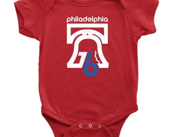 Retro Philadelphia 76 Inspired Red Infant Bodysuit