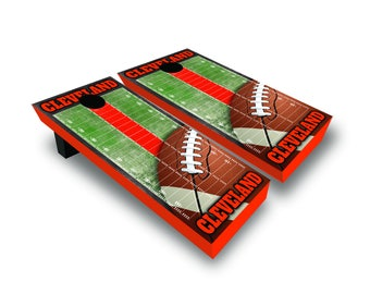 Chicago Cleveland Football Corn Hole Game