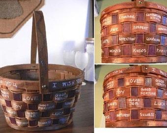 I Wish You - Graduation Hand-Painted Basket