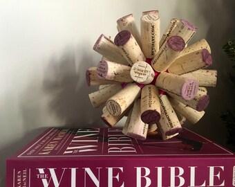 Used wine cork ball