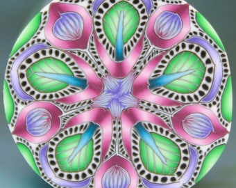 Small Polymer Clay Kaleidoscope Cane (43C)