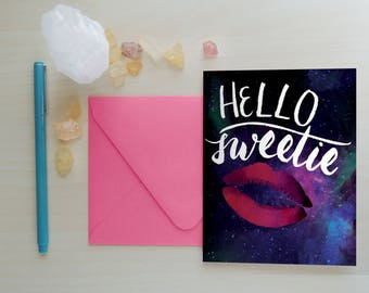 Valentine's Day Card, Hello Sweetie Greeting Card, Greeting Card, Doctor Who Greeting Card, River Song Greeting Card, Whovian: Hello Sweetie