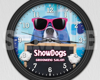Dog Grooming Salon - Pet Groomer - Personalized Wall Clock ITEM#012