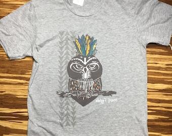 Hawaiian Adult Owl Tshirt