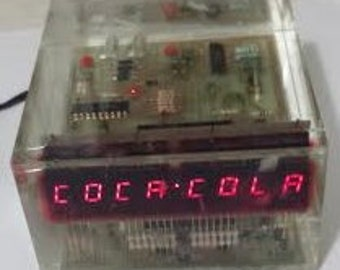 Vintage 1970's Coca-Cola Prototype Bomartan Advertising Clock