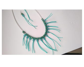 FREE SHIPPING. Green jewelry set