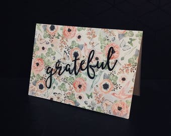 A6 floral thank you card.