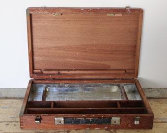 Vintage Wooden Painters Box