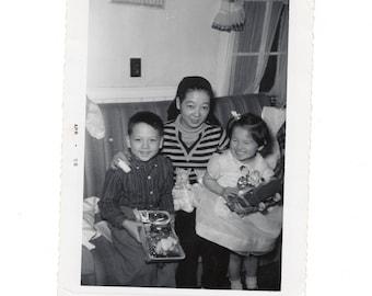 Easter 1958, vintage snapshot photo
