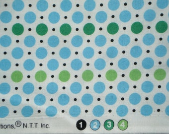 DS Quilts Denyse Schmidt Dots Green Blue Picnic Fairgrounds Fat Quarter or more