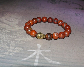 "Buddha Brecciated Jasper ""Clarity and Focus"" Reiki Bracelet"