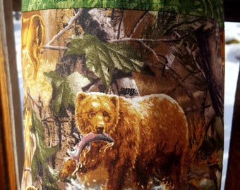 Wildlife Plastic Shopping Bag Holder, Elk Grocery Bag Dispenser, Bear Shopping Bag Keeper