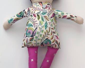Tula pink magenta doll