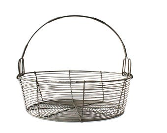 Vintage Wire Basket - Easter