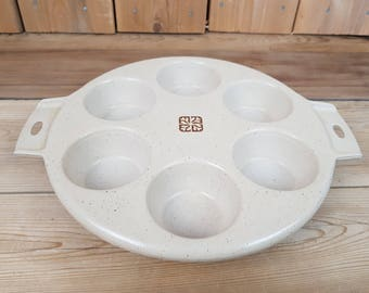Vintage Littonware Poached Eggs Muffin Cupcake Pan Microwave and Oven Use 80s Mod Retro Kitchen Home Decor Farmhouse