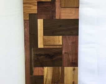 Hardwood Mosaic Wood Art Wall Art