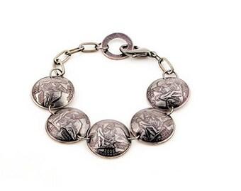California State Domed Quarter Bracelet