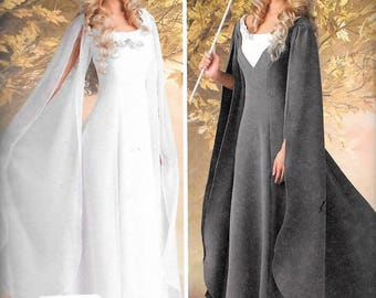 Simplicity 1551 LOTR Elf Queen Galadrie Medieval Renaissance Dress Costume Sewing Pattern UNCUT Size 8, 10, 12, 14