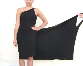 SUMMER DRESS Women Backless Sundress,  Beach Wrap, Black