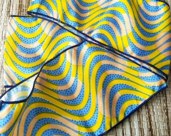 "African Finished Edge Ankara Headband (scarf) 72""x 3"""