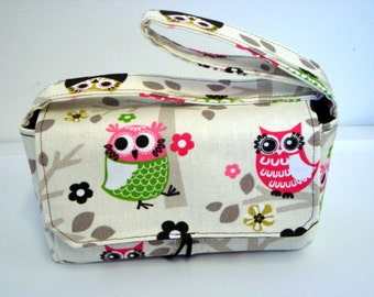 Medium Size Coupon Organizer Holder - Attaches to your shopping cart -Owls on Branches