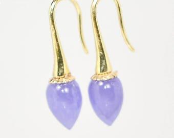 Lavender Jade Earring