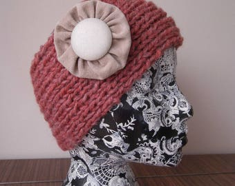 Handmade headband featureing handmade brooch