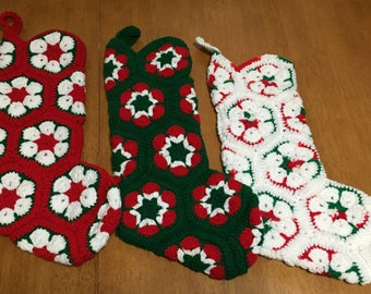 Christmas Stockings, crocheted, make Christmas Special, kids stocking, stockings, fireplace, mantle.