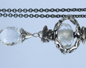 Discount  / 925 Silver Fantasy necklace with  Rock Crystal
