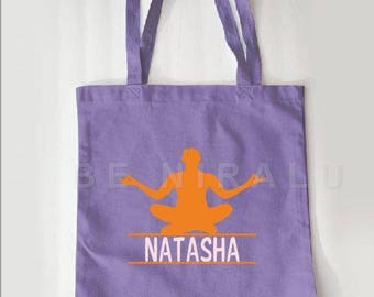 Yoga Tote | Personalized Tote | Personalized YogaTote Bag | Custom Yoga Tote | Personalized Yoga Tote | Yoga Teacher Gifts