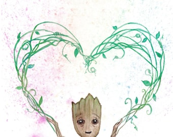 "Baby Groot - 18""X12"" Poster Print"