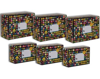 Jillson & Roberts Design Mailing Box Assortment, Emojis (6 Pieces)