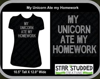 My Unicorn Ate my Homework In Mega Bling Spangle