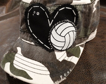 Volleyball LOVE Camo Cadet Hat
