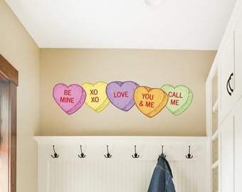 Conversation Hearts Valentine's Day Wall Sticker