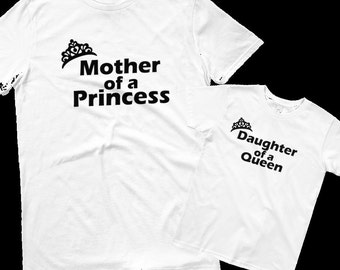 "T-shirt with ""DAUGHTER OF QUEEN."" for set of shirts"