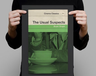 THE USUAL SUSPECTS Movie Poster Retro Poster Penguin Classic Movie Poster Mid Century Modern Ribba Print Classic Film Poster Bryan Singer