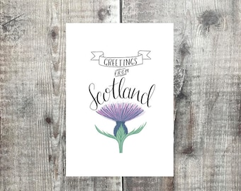 Scottish cards etsy greetings from scotland scottish card thistle scotland love scotland scottish greeting m4hsunfo