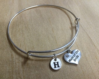 KIDS SIZE - Mum of the Bride  Bracelet, Gift for Bride's Mom, Wedding Barcelet, Wedding Jewelry, Wedding Bracelet, Mom Thank You Gift