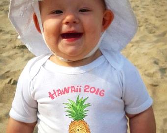 Cute Baby bodysuit, Pineapple Baby clothes, Pineapple, Hawaii baby, Vacation shirts, Pineapple baby shower, Little Girl, Girly, Beach Bum